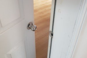 New lock fitting apartment bedroom door